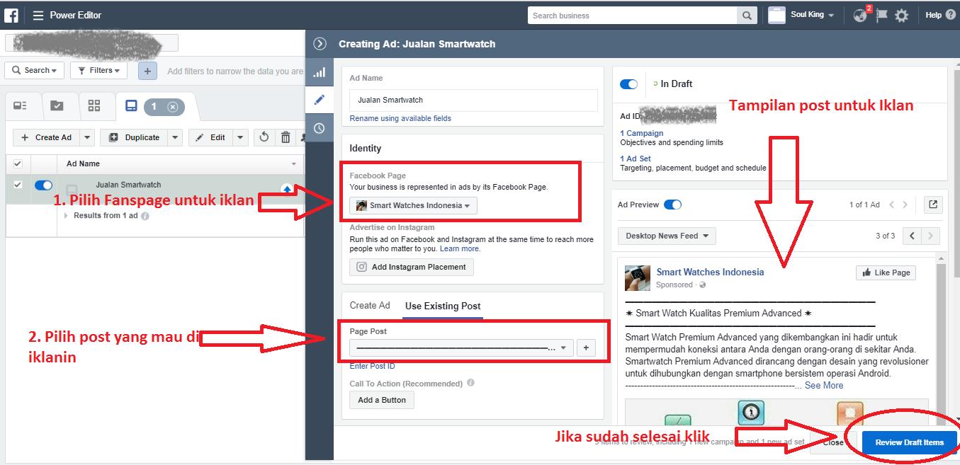 tutorial cara beriklan di facebook ads