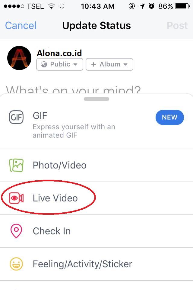 cara siaran langsung di facebook lite
