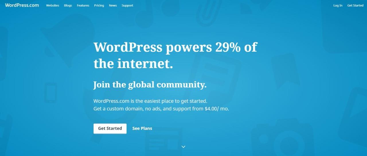 Membuat wordpress gratis 1